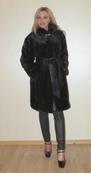 Шикарная модная норковая шуба из новой коллекции 2014,  размер 44 46,  М