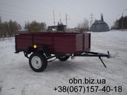 Прицепы одноосные от 4400 грн. Бесплатная доставка по всей Украине.