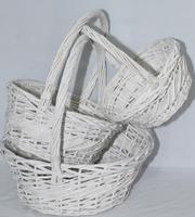 Плетеные корзины круглые и овальные, набор 3шт 38*38*38см, 45*38*40см