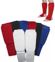 Защита для единоборств/защита голени и стопы тканевая: 3 цвета