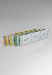 Ценникодержатель для стеллажей 60 мм прозрачный и цветной.